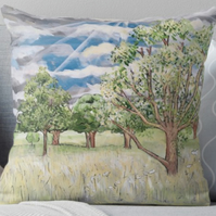 Throw Cushion Featuring The Painting 'Breaking Through...'