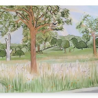 Canvas Print Taken From The Original Oil Painting 'In Pursuit Of The Pastoral'
