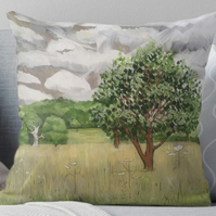 Throw Cushion Featuring The Painting 'My Strength Is Renewed'
