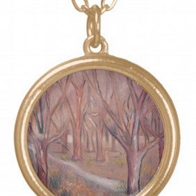 Beautiful Pendant featuring the design 'Shades Of Pink In The Wild Garden'