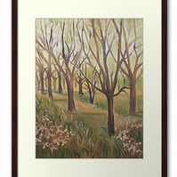 Framed Print Taken From The Original Oil Painting Inspiration In The Wild Garden