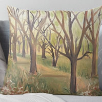 Throw Cushion Featuring The Painting 'Inspiration In The Wild Garden'
