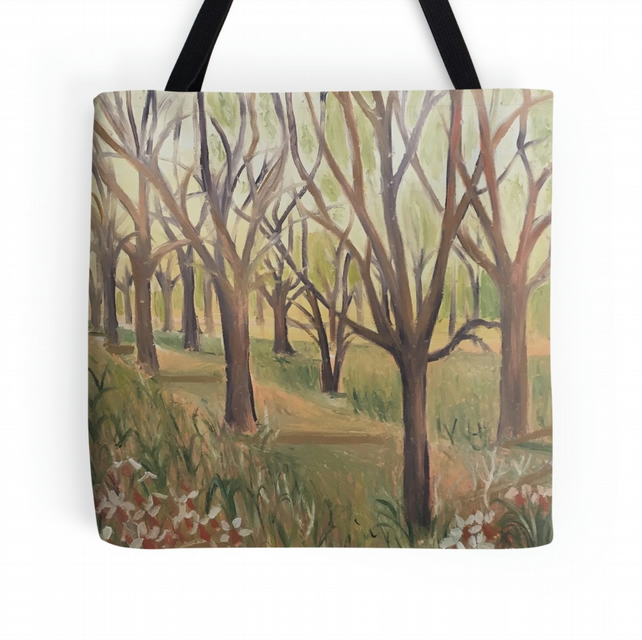Beautiful Tote Bag Featuring The Design 'Inspiration In The Wild Garden'