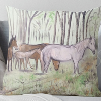 Throw Cushion Featuring The Painting 'Mother Love'