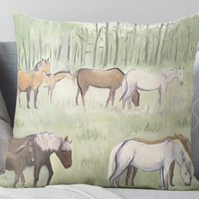 Throw Cushion Featuring The Painting 'Family Bond'