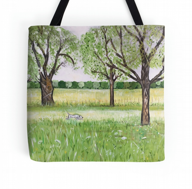 Beautiful Tote Bag Featuring A Design Based On The Painting 'Essence Of Summer'