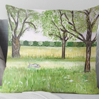 Throw Cushion Featuring The Painting 'Essence Of Summer'