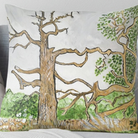 Throw Cushion Featuring The Painting 'Lightning Strike'