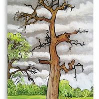 Canvas Print Wall Art Taken From The Original Oil Painting 'The Lightning Tree'