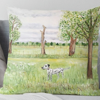 Throw Cushion Featuring The Painting 'Midsummer In The Park'