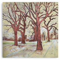 Canvas Print Wall Art Taken From The Original Oil Painting 'Trees In The Field..