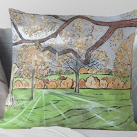 Throw Cushion Featuring The Painting 'Fading Light...'