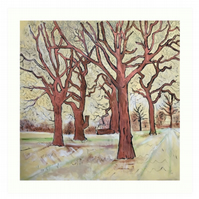 Art Print Taken From The Original Oil Painting 'The Trees In The Field...'