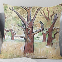 Throw Cushion Featuring The Painting 'SeedTime And Harvest'