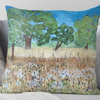 Throw Cushion Featuring The Painting 'To Everything There Is A Season'