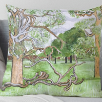Throw Cushion Featuring The Painting 'Growing Old With Grace'