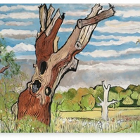 Canvas Print Wall Art Taken From The Original Oil Painting 'The Deadwood Tree'