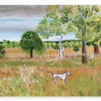 Canvas Print Wall Art Taken From The Original Oil Painting 'Fields Of Gold'