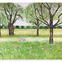 Canvas Print Wall Art Taken From The Original Oil Painting 'Essence Of Summer'