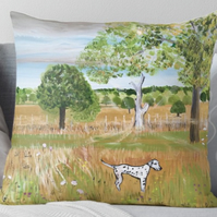 Throw Cushion Featuring The Painting 'Fields Of Gold'
