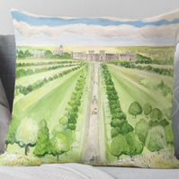 Throw Cushion Featuring The Painting 'The Long Walk'