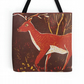 Beautiful Tote Bag Featuring The Design 'Gentle Giant Of The Wood' orange