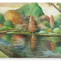 Canvas Print Taken From The Original Oil Painting 'Reflections'