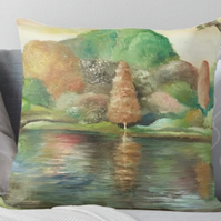 Throw Cushion Featuring The Painting 'Reflections'