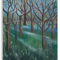 Canvas Print Taken From The Original Painting 'Inspiration In The Bluebell Wood'