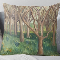 Throw Cushion Featuring The Painting 'The Onset Of Spring'
