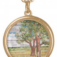 Beautiful Pendant featuring the design 'The Answer Is Blowing In The Wind'