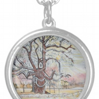 Beautiful Pendant featuring the design 'Scattering Of Snow'
