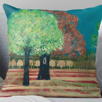 Throw Cushion Featuring The Painting 'Indian Summer'