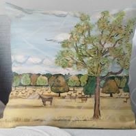 Throw Cushion Featuring The Painting 'The Stag'