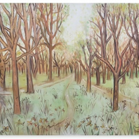 Canvas Print Taken From The Original Painting 'Pathway Through The Trees'