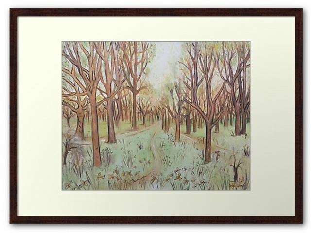 Framed Print Taken From The Original Painting 'Pathway Through The Trees'