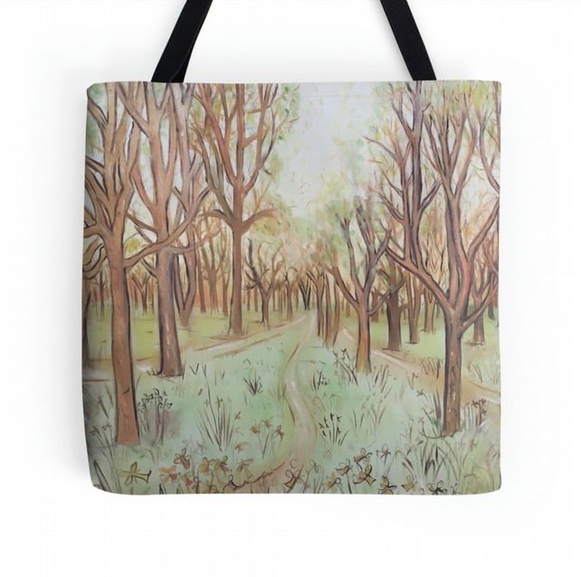 Beautiful Tote Bag Featuring The Design 'Pathway Through The Trees'