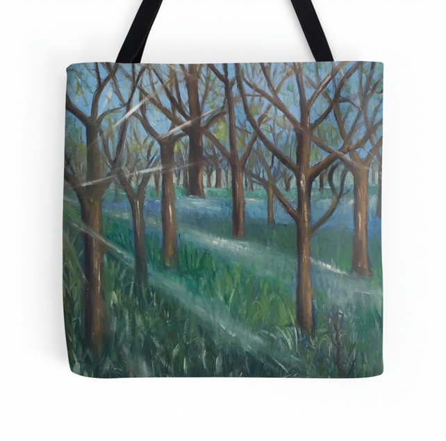 Beautiful Tote Bag Featuring The Design 'Inspiration In The Bluebell Wood'