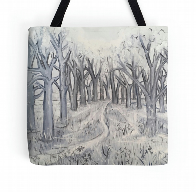 Beautiful Tote Bag Featuring The Design 'Shades Of Grey In The Wild Garden'