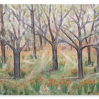 Canvas Print Taken From The Original Painting 'The Way'