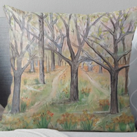 Throw Cushion Featuring The Painting 'The Way'