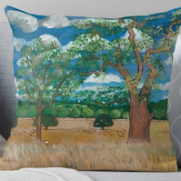 Throw Cushion Featuring The Painting 'Sunny Skies'