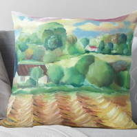 Throw Cushion Featuring The Painting 'Where We Used To Play'