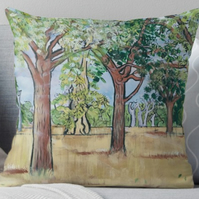 Throw Cushion Featuring The Painting 'From One Small Seed...'