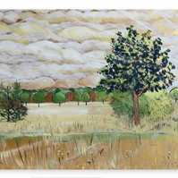 Canvas Print Taken From The Original Painting 'Anticipating Autumn'