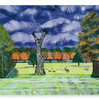 Canvas Print Taken From The Original Painting 'When The Rain Came'