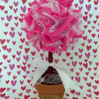 Mini Pink Lace 'Treat Tree' Stunning Valentines Day or Anniversary gift