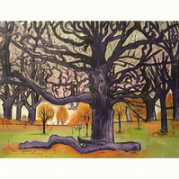'The Tree Grew Large And Became Strong' Art Print By Sally Anne Wake Jone