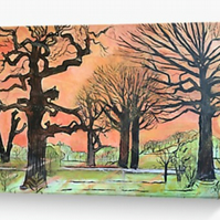 Greeting Card Based On The Original Painting By Sally Anne Wake Jones