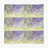 Beautiful Scarf Featuring An Original Design By Sally Anne Wake Jones